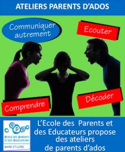 Ateliers parents d'ados - école des parents et des éducateurs