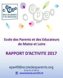 Rapport d'activité EPE 49 - école des parents et des éducateurs